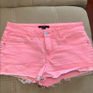 Pink denim shorts size 27 or size 6/7